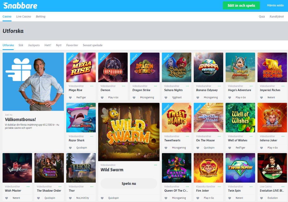 Snabbare.com Casino